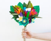 Felt Flower Tropical Bouquet - Tropical Wedding - Alternative Bouquet