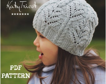 Knitting Pattern FERN Hat (Sizes: Toddler through Adult) - English, French and Russian
