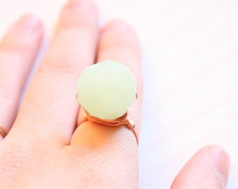 Pastel Green Fingers Ring