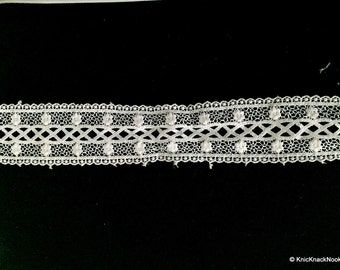 White Embroidery Crochet (Cotton) Lace Trim - 02L20