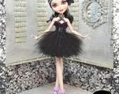 "Fairytale Doll ""Black Swan"" fierce high fashion outfit"