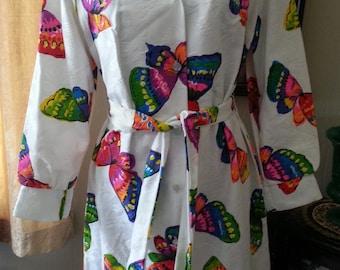 Super Groovy Butterfly Shirt Dress