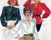 Vintage Butterick 4089 Sewing Craft Pattern Misses Blouses