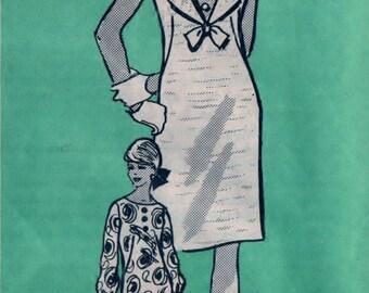 Junior Miss Dress Pattern CUT Anne Adams 4936