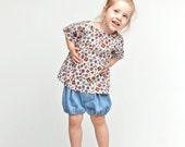Girls bubble shorts denim style shorts, lightweight summer shorts
