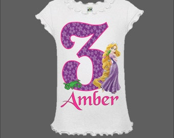 Rapunzel Birthday Shirt - Tangled Shirt - Tangled Birthday Shirt