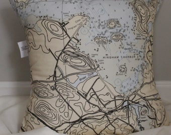 Nautical Chart Pillow-Special Price