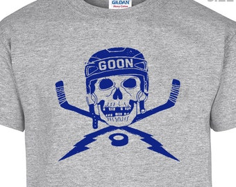 YOUTH / KIDS Hockey Goon T Shirt Cool Hockey Player Kids T Shirt Hockey Childrens T Shirt Youth T Shirt