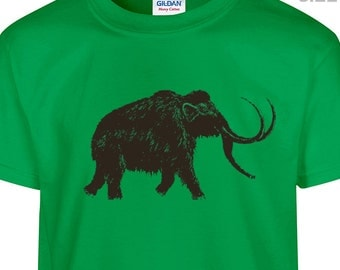 YOUTH / KIDS Big Wooly Mammoth T Shirt Kids Elephant T Shirt Dinosaur T Shirt Childrens t shirt
