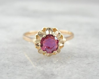 Radiant Ruby And Rose Gold Ladies Engagement Ring 4RUNLQ-D