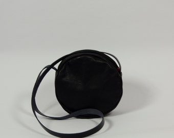 Lise - black leather purse