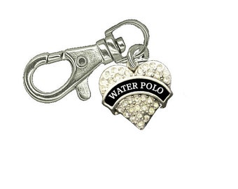 Water Polo Zipper Pull - Water Polo Gift - Zipper Pull - Jacket Zipper Pull - Charm  - Gym Bag Zipper Pull - Gift Water Polo - Keychain