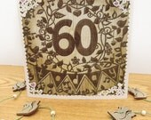 60 today square Birthday card.