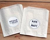 25 Custom Wedding Stickers / Favor Bags / Personalized Stickers / Paper Bags / Wedding Favor / Cookie Bags / Custom Stickers / Wedding Label