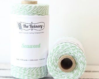 Mint Green Twine, Mint Bakers Twine, Craft Twine, Packaging Twine, Baby Shower, Card Making, Mint String, Cotton Twine, Twinery Twine