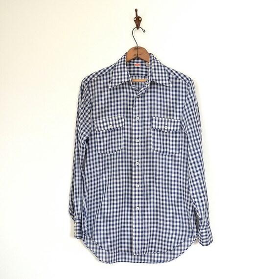 chemise levis vintage ann es 70 levi strauss gingham chemise. Black Bedroom Furniture Sets. Home Design Ideas