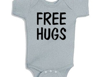 Free Hugs - Onesie Bodysuit Creeper *Free Shipping*
