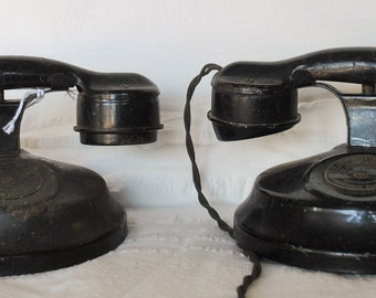 Vintage 1920's Antique Child's Phone Set