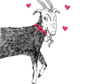 Funny, quirky, Don't goat breaking my heart card