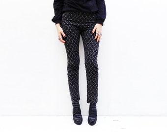Grey and Black High Waisted Skinny Pants