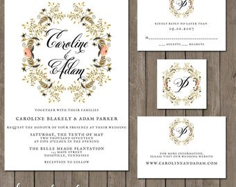 Printable Wedding Invitation Suite - the Paige Collection