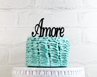 Amore Wedding Cake Topper or Sign