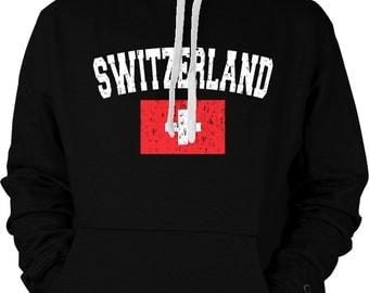Switzerland Country Flag Sweatshirt, Swiss Pride, Switzerland Flag, Schweizer Nati, La Nati, International Country Hoodies_ SWI-02_2tonehood