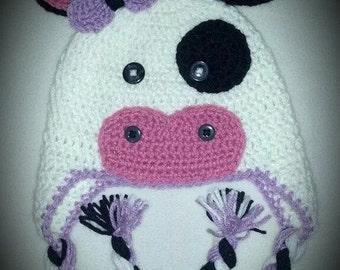 Crochet Cute Cow Hat