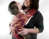 Harry Potter Linen Baby Carrier, Harry Potter mei tai baby carrier, Harry Potter Spells baby gear,