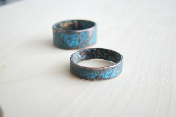 His & Hers Promise Rings Couple Ring Set Personalized Ring
