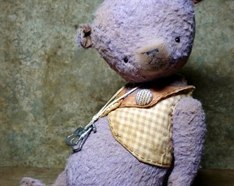 OOAK Artist Teddy Bear LILAC RIDER by Jevgeni Bulahtin