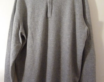 Like New Grey Jaeger Cashmere Polo Sweater