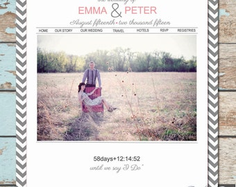 Custom Wedding Website - Chevron