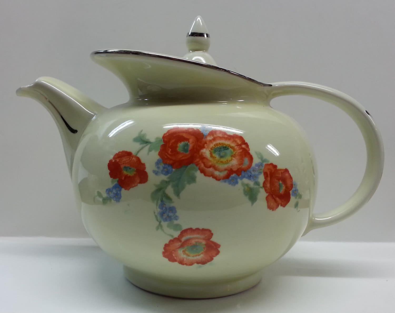 Hall S Orange Poppy Windshield Teapot Amp Lid Superior