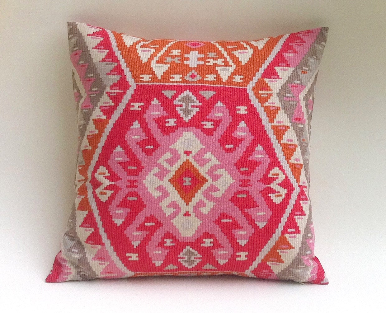One PRINTED Canyon Sunset Pink Decorative Zipper Pillow Cover
