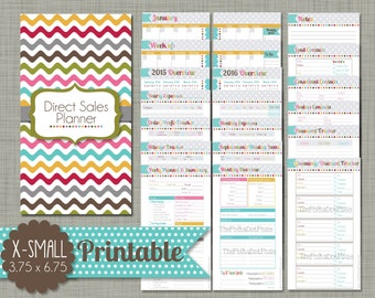 "Direct Sales Planner {Printable} Set - Sized X-Small 3.755"" x 6.75"" PDF"
