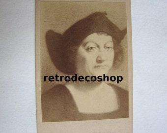 1800's original photo Christopher Columbus portrait