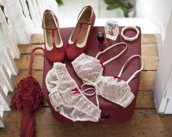 Retro inspired Liberty Cotton Lingerie Set