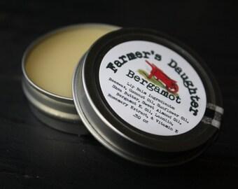 Natural Lip Balm- BERGAMOT LIP BALM,Stocking Stuffer, herbal healing lipbalm, all natural balm, Earl Grey Tea lip balm,  herbal Lip Balm