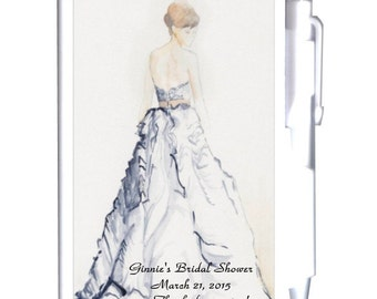 24 Watercolor Bride Bridal Shower Notebook Favors