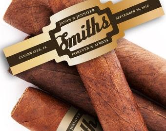 Custom Cigar Bands - Wedding Cigar Labels