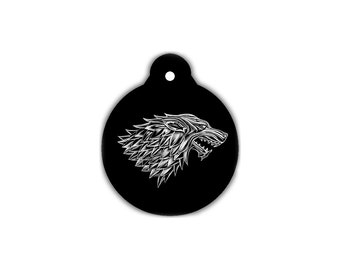Pet ID Tag House of Stark Game of Thrones Dog ID Tag Cat ID Tag