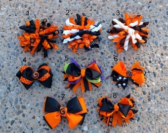 Halloween/Fall Hair Clips