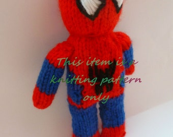 PDF knitting pattern: Spiderman