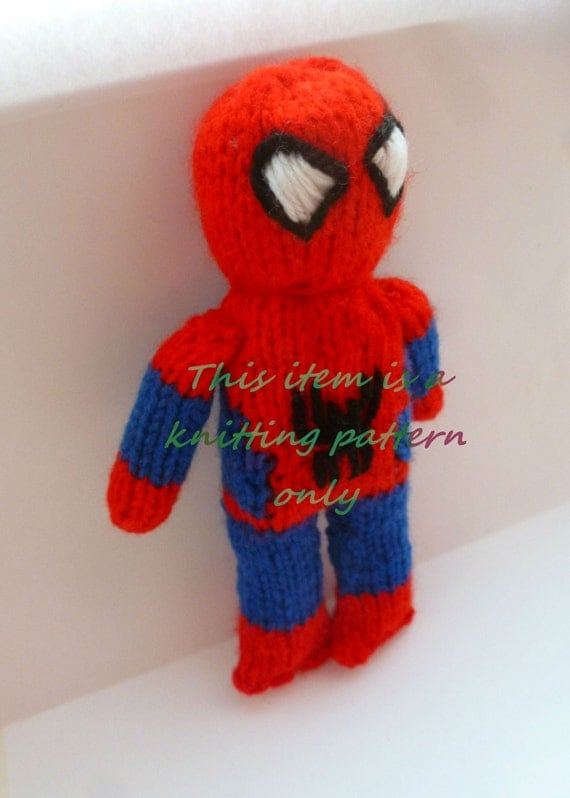 Knitting Pattern For Spiderman Doll : PDF knitting pattern: Spiderman