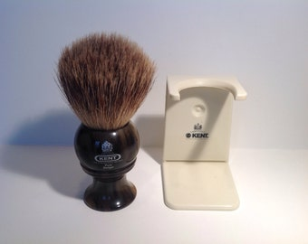Kent H8 Silvertip Pure Badger Shaving Brush with Stand.