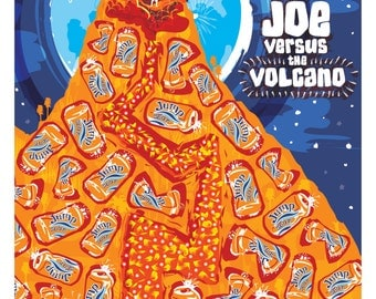 """Joe Versus The Volcano (1990) Inspired Movie Poster, """"Come Go With Me"""", by Cutestreak Designs. 2013. Version 3."""