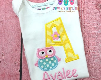 Owl baby girl outfit - baby girl owl shirt - Toddler Owl Shirt - Personalized baby clothes