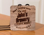 Personalized Beer Coasters - set of 4