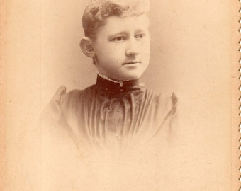 Antique Photo of Young Lady with Blonde Hair